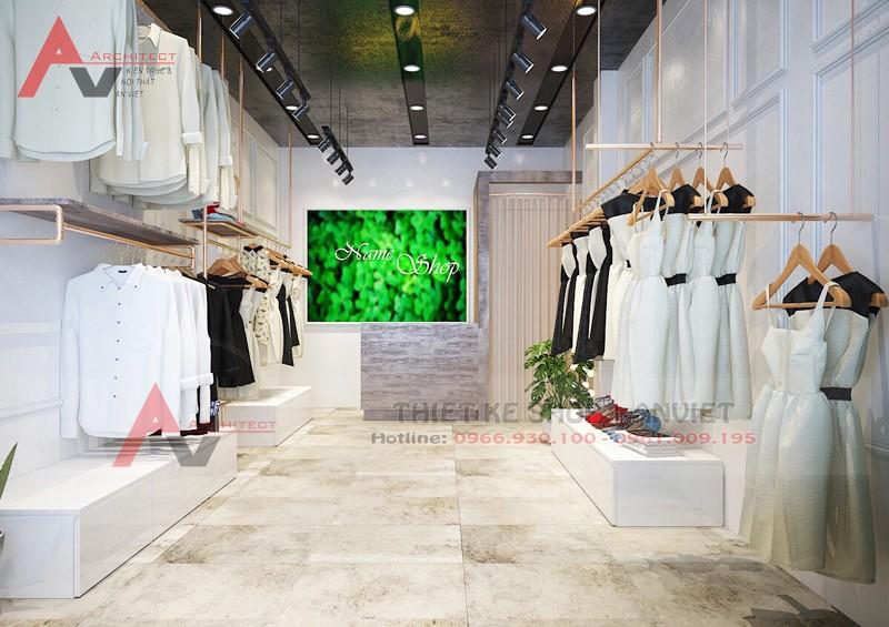 Thiết kế shop thời trang nữ hiện đại 30m2 Chị Linh tại Hà Nội