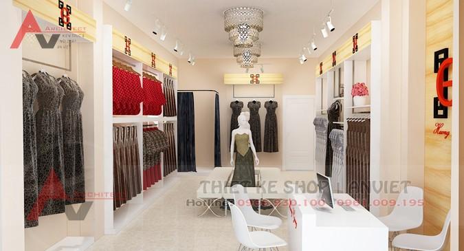 Thiết kế shop thời trang nữ nhỏ đẹp 30m2 tại Hà Nội