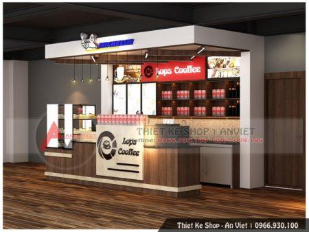Thiết kế thi công quầy bar, mẫu quầy bar cafe đẹp tại Long Biên