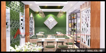 Thiết kế nội thất quán cafe hiện đại 100m2 tại Phú Thọ