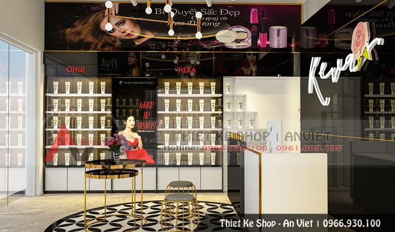 Thiết kế nội thất shop mỹ phẩm hiện đại 40m2 tại Phú Thọ