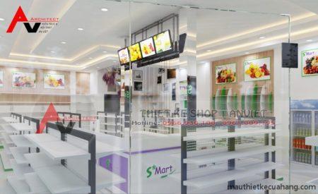 Mẫu thiết kế siêu thị mini 120m2 THU HÚT NGƯỜI MUA