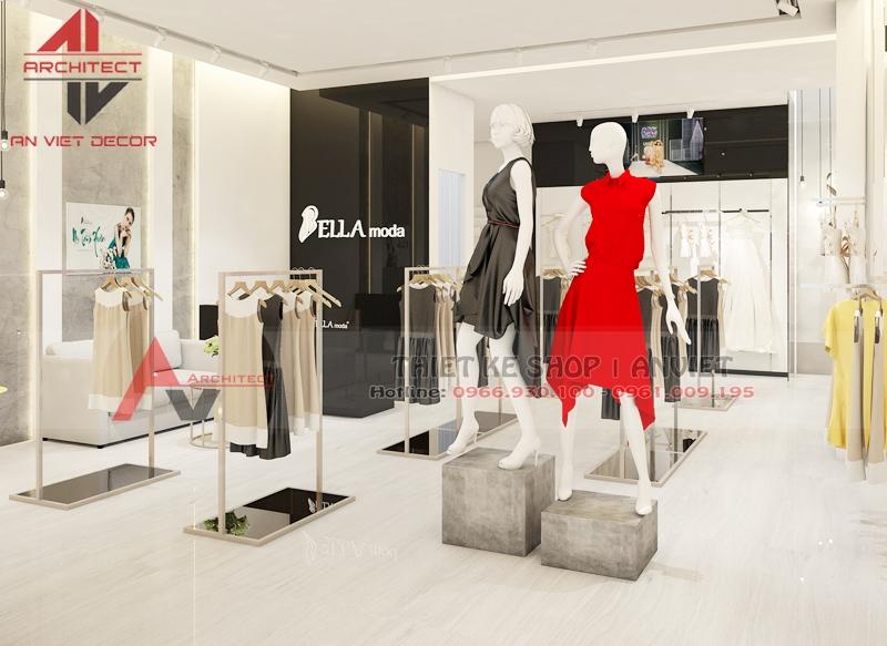Thiết kế shop thời trang nữ 40m2 tại Thanh Hóa