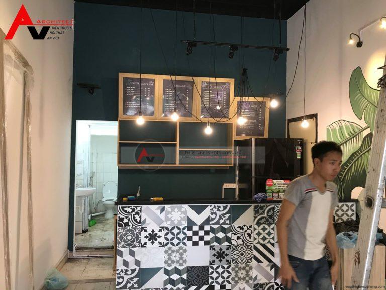 Mẫu thiết kế nội thất shop thời trang nữ 40m2 tại Hưng Yên