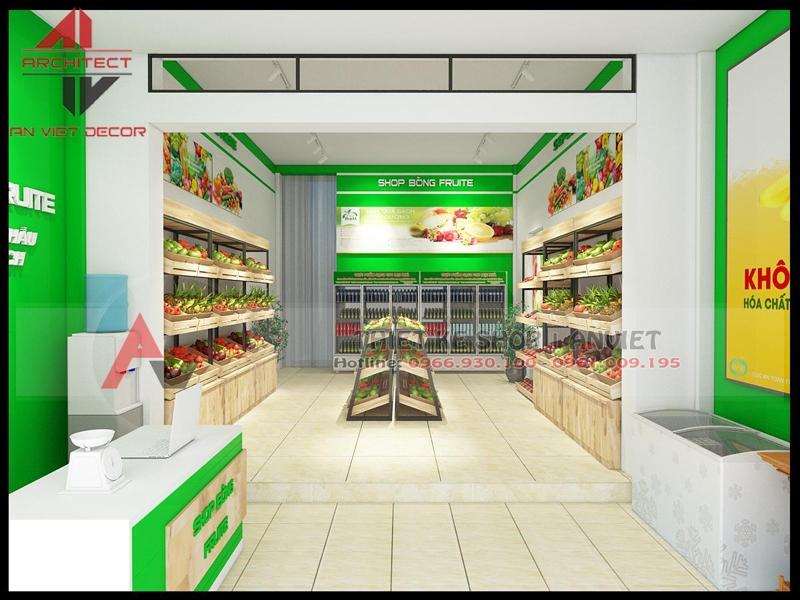 Thiết kế cửa hàng trái cây sạch 40m2 tại Bắc Giang