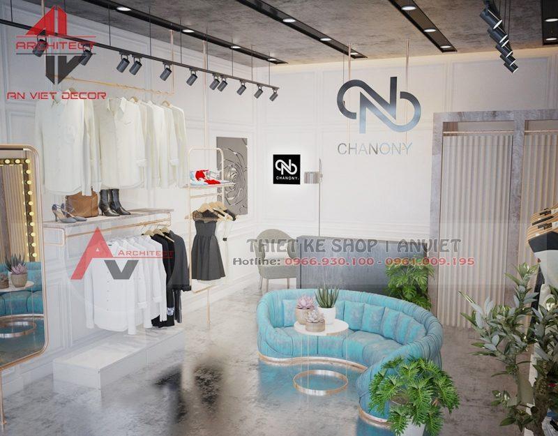 Thiết kế shop thời trang hiện đại 45m2 Đội Cấn Hà Nội