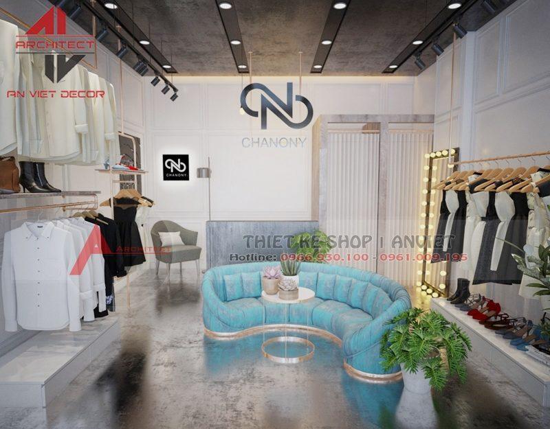 Thiết kế shop thời trang hiện đại 45m2 Hà Nội