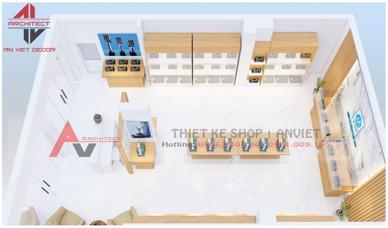 Thiết kế showroom trưng bày Thiết Bị Đo Lường 60m2 - mauthietkecuahang.com