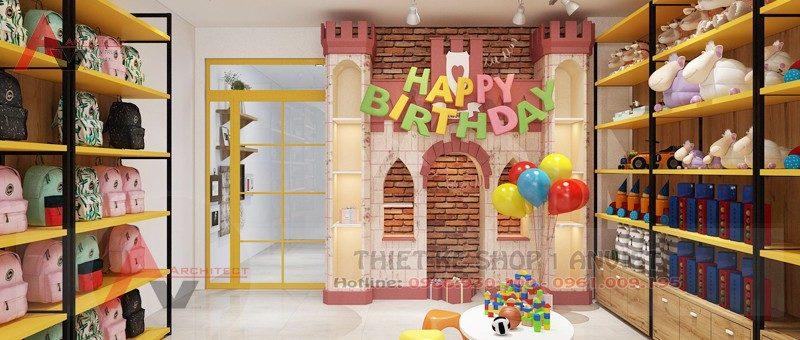 Thiết kế siêu thị đồ chơi trẻ em 60m2 tại Vĩnh Phúc
