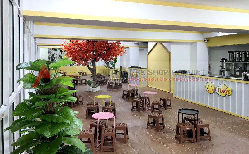 Thiết kế quán Trà Chanh Tlove Hồ Tùng Mậu 120m HN