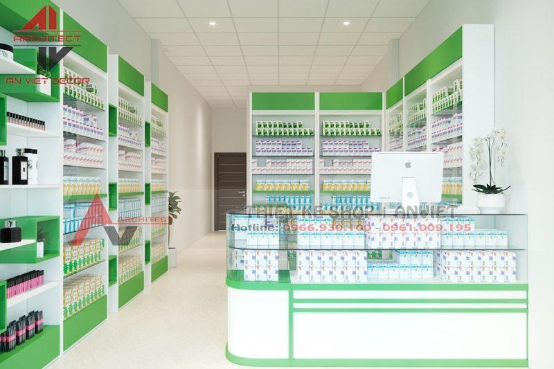 Thiết kế nhà thuốc, thi công nhà thuốc 40m2 tại Nghệ An