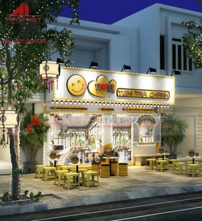 Thiết kế nội thất quán Trà Chanh TLove Tạ Quang Bửu 40m2