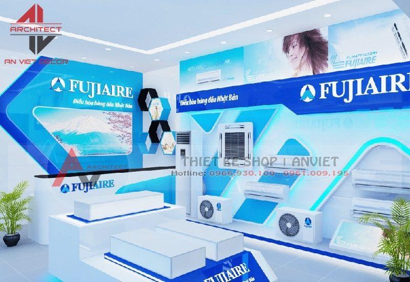 Thiết kế nội thất showroom điện máy 100m2 tại Bắc Giang