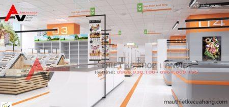 Thiết kế siêu thị ĐẸP CHUYÊN NGHIỆP 500m2 tại Hà Nội