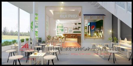 Mẫu thiết kế tiệm trà chanh Bụi Phố 80m2 ở Bắc Giang