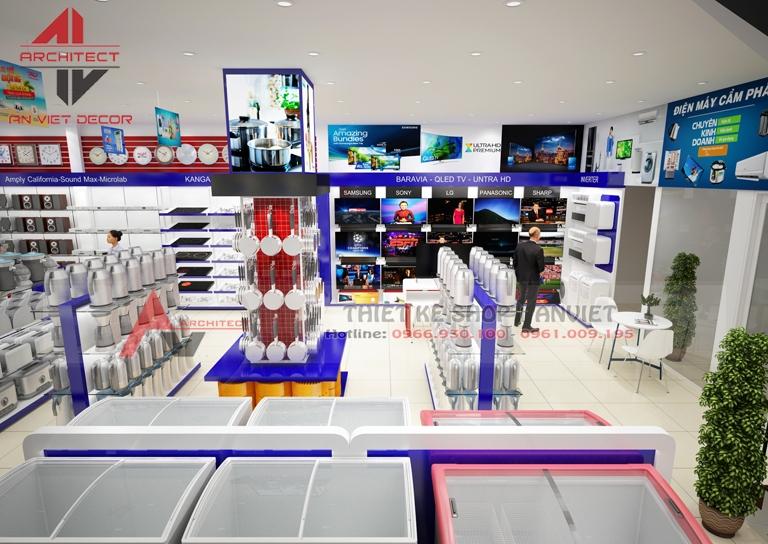 Hình ảnh thiết kế siêu thị ĐIỆN MÁY tại Quảng Ninh - ANVIET