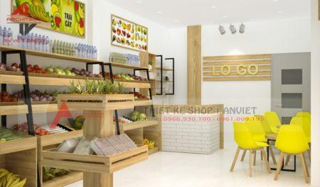 Mẫu thiết kế shop bán trái cây sạch 40m2 NHỎ GIÁ RẺ