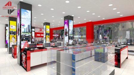 Mẫu thiết kế showroom điện máy 150m2 Phúc Anh Thái Hà