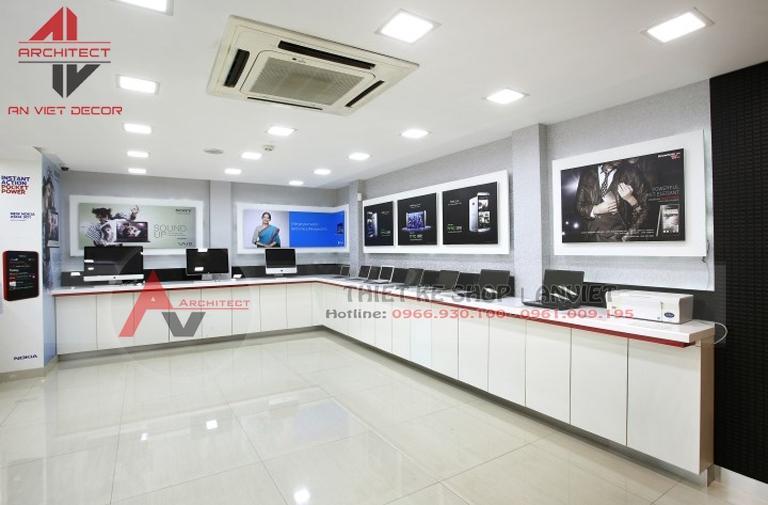 Mẫu thiết kế siêu thị máy tính - ANVIET