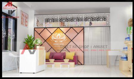 Mẫu thiết kế tiệm salon Nail Spa 40m2 tại Văn Phú Hà Đông