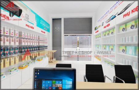 Thiết kế cửa hàng điện thoại NHỎ ĐƠN GIẢN 40m2 ở HN