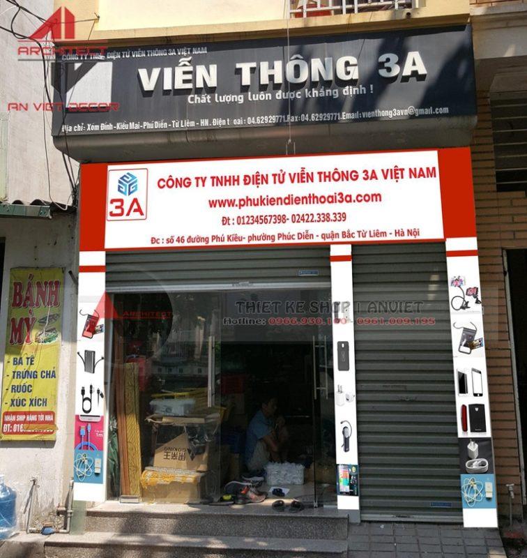 Thiết kế cửa hàng điện thoại NHỎ ĐƠN GIẢN Ở HN
