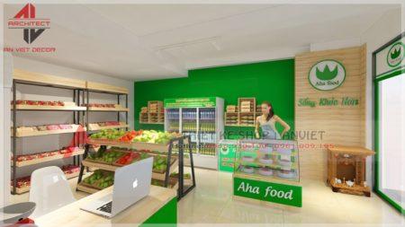 Thiết kế cửa hàng thực phẩm sạch 40m2 tại Hà Nội