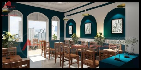 Thiết kế quán Cafe kết hợp Trà Chanh độc đáo 120m2 tại HN