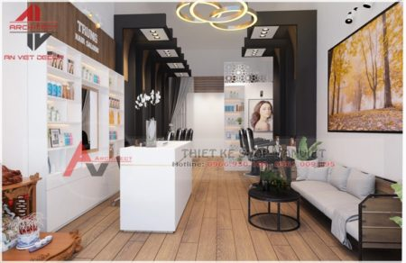 Thiết kế quán cắt tóc đẹp 50m2 THU HÚT KHÁCH ở HN