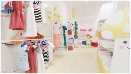 Thiết kế shop quần áo trẻ em đơn giản 40m2 tại Hà Nội