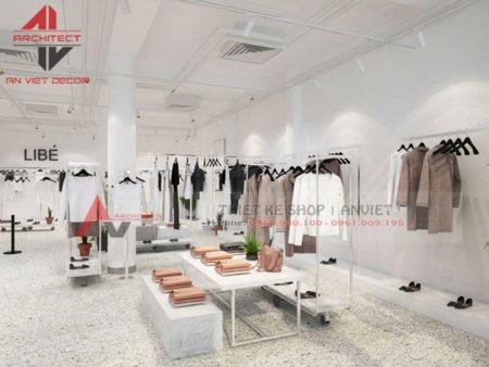 Thiết kế shop thời trang diện tích 60m2 KHÁCH TỚI ẦM ẦM