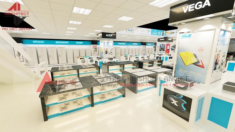 Thiết kế siêu thị trưng bày bếp từ, máy giặt - ANVIET