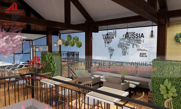 tầng 2 của quán cà phê