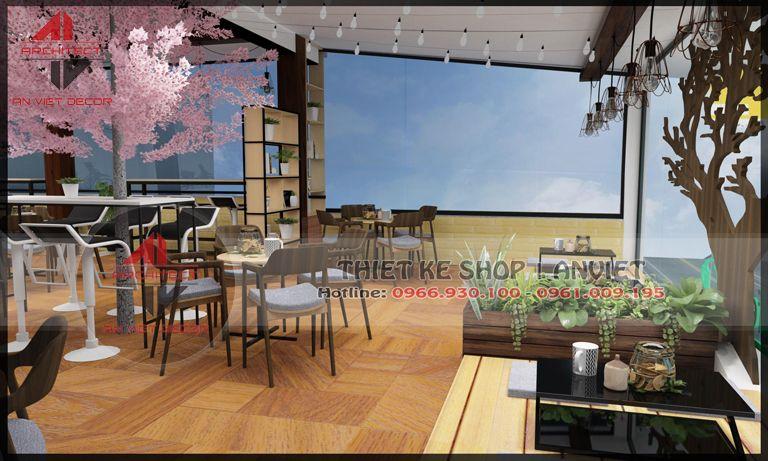 bàn ghế của quán cà phê