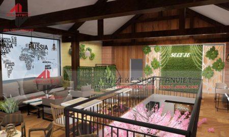 Thiết kế quán cà phê 180m2 cực ĐẸP tại Hưng Yên