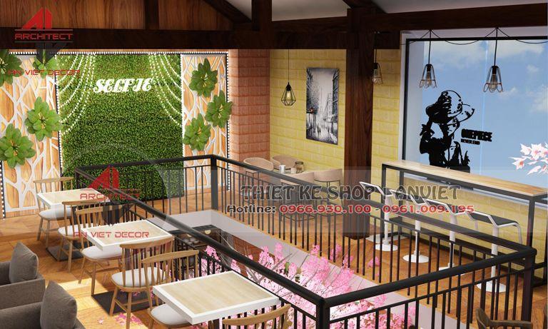 thiết kế khu vực cầu thang của cửa hàng