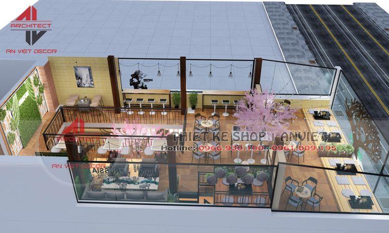 thiết kế 3d của quán
