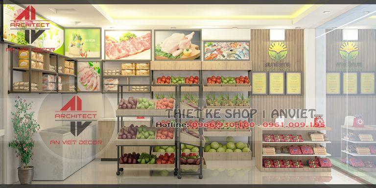 Thiết kế cửa hàng hoa quả 20m2 cực độc đáo tại Sơn Tây