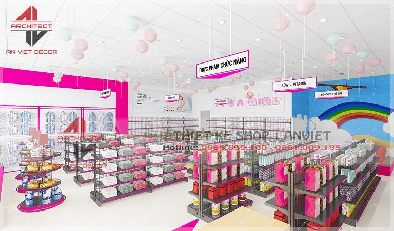 """"""" Trụy tim"""" với thiết kế cửa hàng mẹ và bé vô cùng dễ thương tại Phúc Yên"""