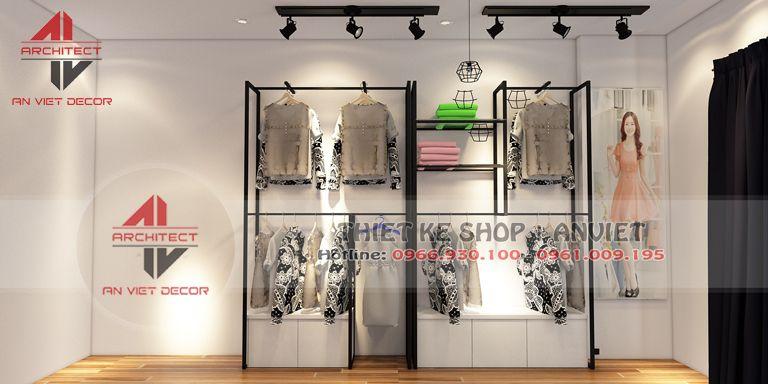 giá trưng bày sản phẩm tại shop thời trang