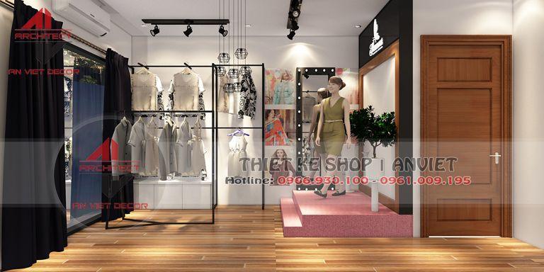 trang trí shop quần áo online