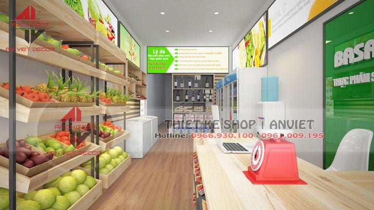 Cách trang trí cửa hàng thực phẩm sạch Ấn Tượng