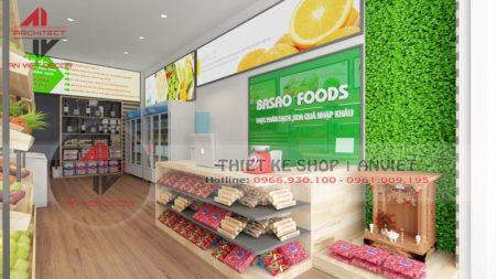 Thiết kế cửa hàng thực phẩm sạch cực bắt mắt tại Hà Nội