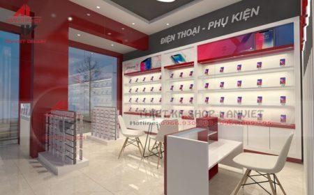 Thiết kế cửa hàng điện thoại cực HIỆN ĐẠI tại Bắc Ninh
