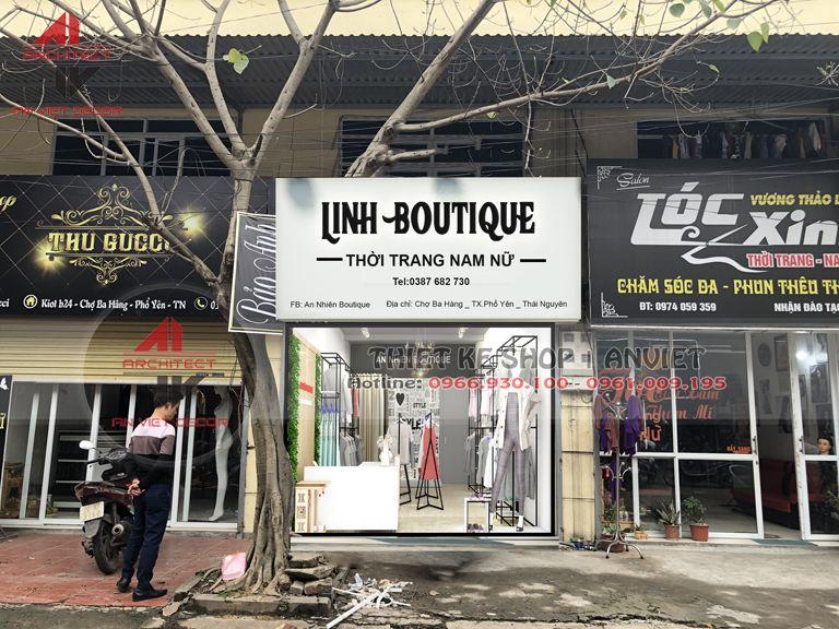 Thiết kế shop quần áo nữ 30m2 cực ấn tượng tại Thái Nguyên