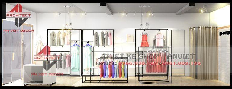 thiết kế shop thơi ftrang đẹp tại thái nguyên
