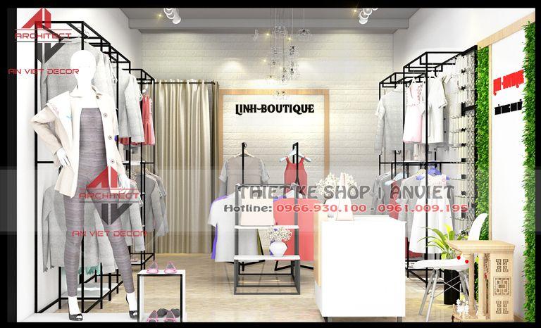 trang trí cửa hàng quần áo tại thái nguyên