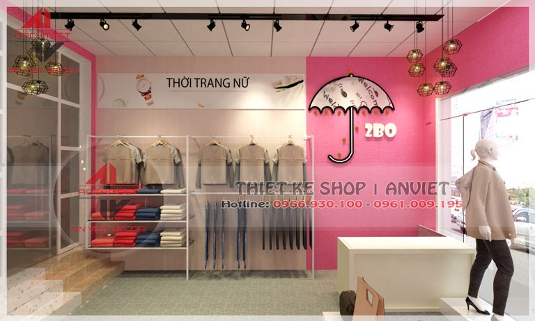thiết kế shop quần áo tại đông anh