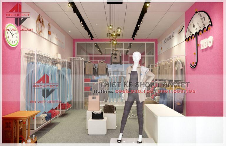trang trí cửa hàng bán quần áo tại hà nội
