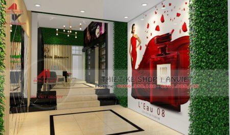 Mẫu thiết kế cửa hàng mỹ phẩm 40m2 cực ĐỘC ĐÁO tại Ba Vì